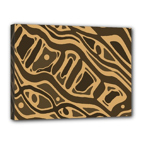 Brown abstract art Canvas 16  x 12