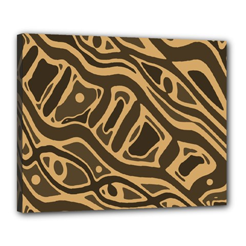 Brown abstract art Canvas 20  x 16
