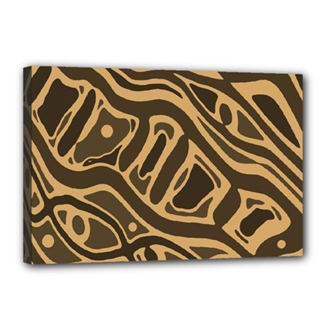 Brown abstract art Canvas 18  x 12