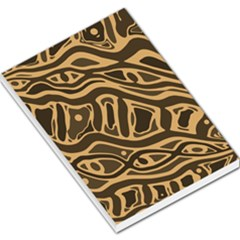 Brown abstract art Large Memo Pads