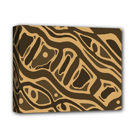 Brown abstract art Deluxe Canvas 14  x 11