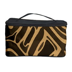 Brown abstract art Cosmetic Storage Case