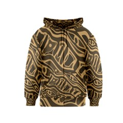 Brown abstract art Kids  Zipper Hoodie