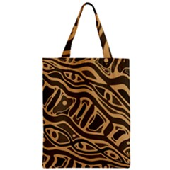 Brown abstract art Zipper Classic Tote Bag