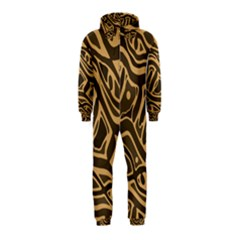 Brown abstract art Hooded Jumpsuit (Kids)