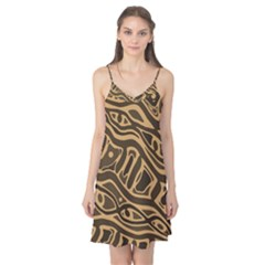 Brown abstract art Camis Nightgown
