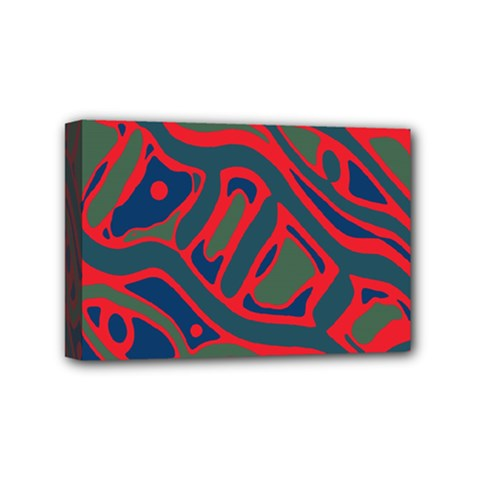 Red and green abstract art Mini Canvas 6  x 4