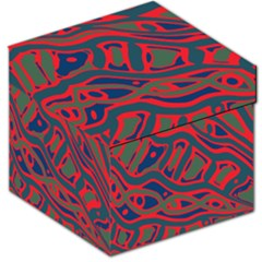 Red and green abstract art Storage Stool 12
