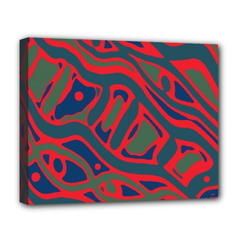 Red and green abstract art Deluxe Canvas 20  x 16
