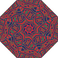Red and green abstract art Golf Umbrellas