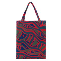 Red and green abstract art Classic Tote Bag