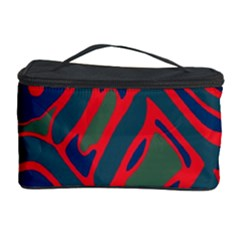 Red and green abstract art Cosmetic Storage Case
