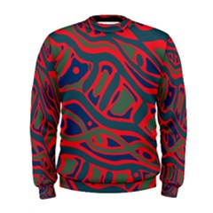 Red and green abstract art Men s Sweatshirt