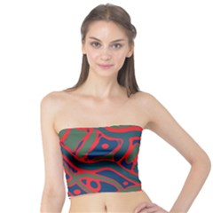 Red and green abstract art Tube Top