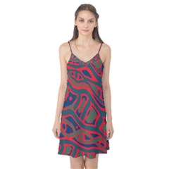 Red and green abstract art Camis Nightgown
