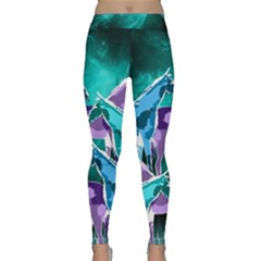 Horses under a galaxy Yoga Leggings