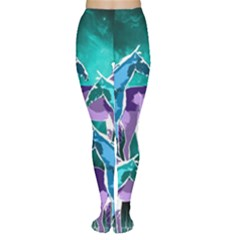 Horses under a galaxy Tights