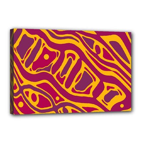 Orange abstract art Canvas 18  x 12