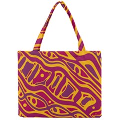 Orange abstract art Mini Tote Bag