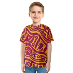 Orange abstract art Kid s Sport Mesh Tee