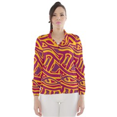 Orange abstract art Wind Breaker (Women)