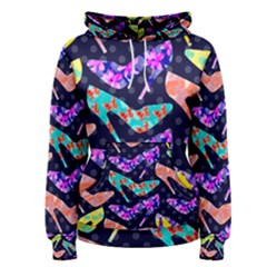 Colorful High Heels Pattern Women s Pullover Hoodie