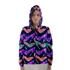 Colorful High Heels Pattern Hooded Wind Breaker (Women)