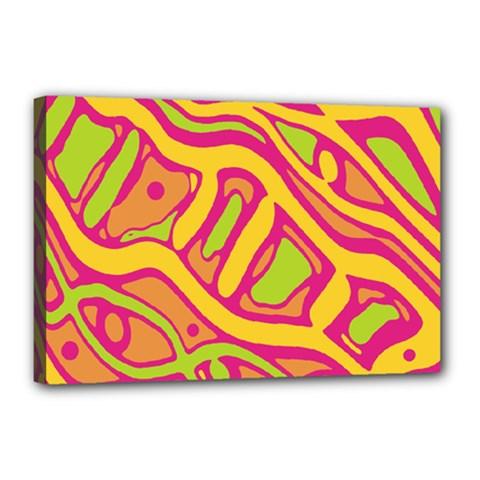 Orange hot abstract art Canvas 18  x 12