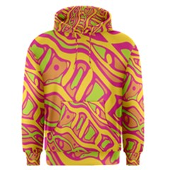 Orange hot abstract art Men s Pullover Hoodie