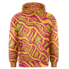Orange hot abstract art Men s Zipper Hoodie