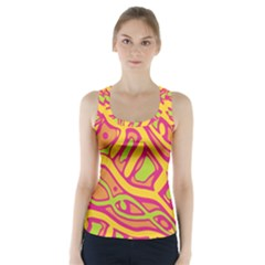 Orange hot abstract art Racer Back Sports Top