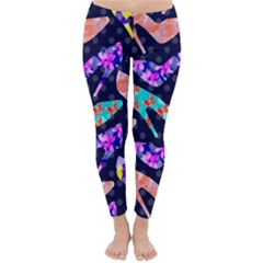 Colorful High Heels Pattern Winter Leggings