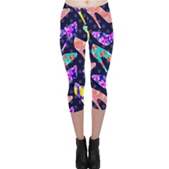 Colorful High Heels Pattern Capri Leggings