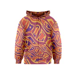 Orange decorative abstract art Kids  Zipper Hoodie