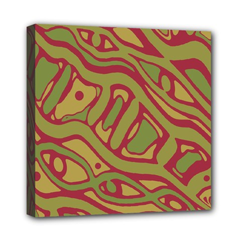 Brown abstract art Mini Canvas 8  x 8