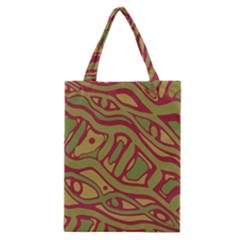 Brown abstract art Classic Tote Bag