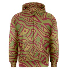 Brown abstract art Men s Zipper Hoodie