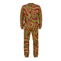 Brown abstract art OnePiece Jumpsuit (Kids)