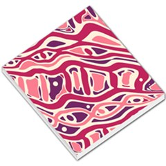 Pink and purple abstract art Small Memo Pads