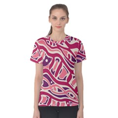 Pink and purple abstract art Women s Cotton Tee