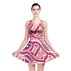 Pink and purple abstract art Reversible Skater Dress