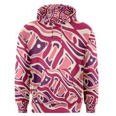 Pink And Purple Abstract Art Men s Pullover Hoodie