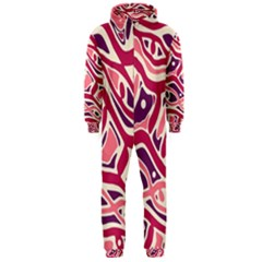 Pink and purple abstract art Hooded Jumpsuit (Men)