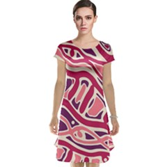 Pink and purple abstract art Cap Sleeve Nightdress