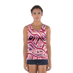 Pink And Purple Abstract Art Women s Sport Tank Top