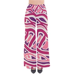 Pink and purple abstract art Pants