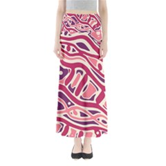 Pink and purple abstract art Maxi Skirts
