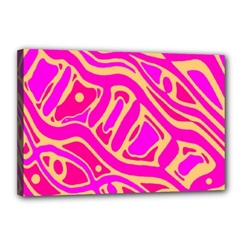 Pink abstract art Canvas 18  x 12