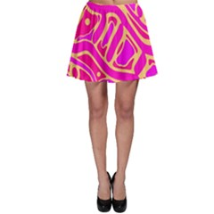 Pink abstract art Skater Skirt