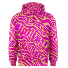 Pink abstract art Men s Zipper Hoodie